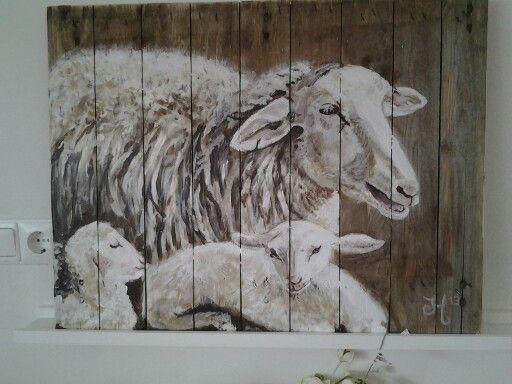 Acryl op hout gelakt voor buiten idee schilderen hout for Schilderij buiten intratuin
