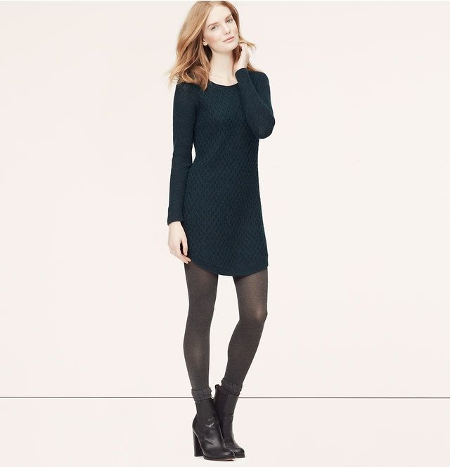 Cable Sweater Dress Loft Cable Sweater Dress Sweater Dress Casual Work Outfits