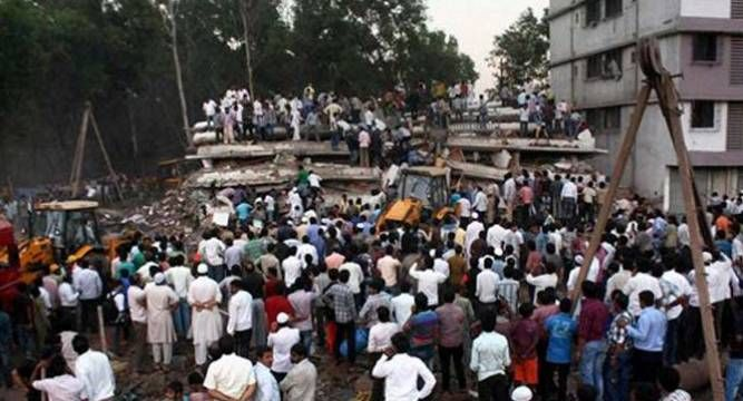 Thane Building Collapses Several Feared Trapped Rescue Operations Underway Asia News Rescue Operations Thane