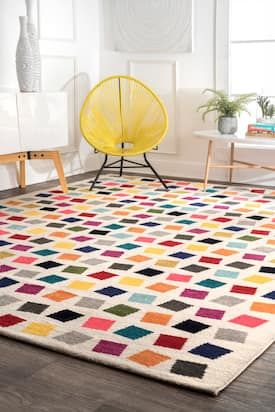 Rugs Usa Multi Albina Kaleidoscope Rug Contemporary Rectangle 8 X