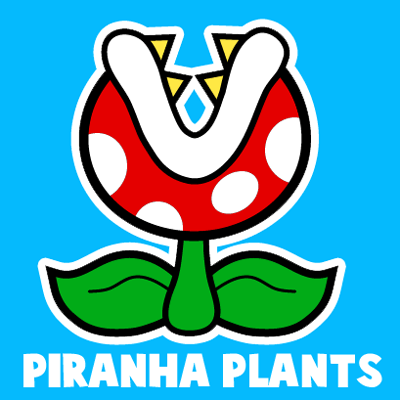 How To Draw A Pirahna Plant From Nintendo S Super Mario Bros With