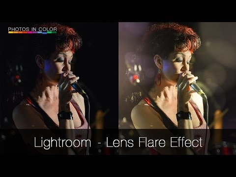 How to add lens flare in lightroom