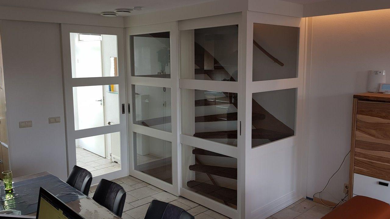 Rimo schuifdeuren op maat voor open trap met een schuifdeur voor