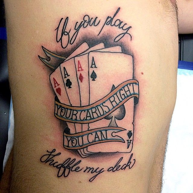 Pics photos amazing playing card designs tattoo card for Card tattoo designs