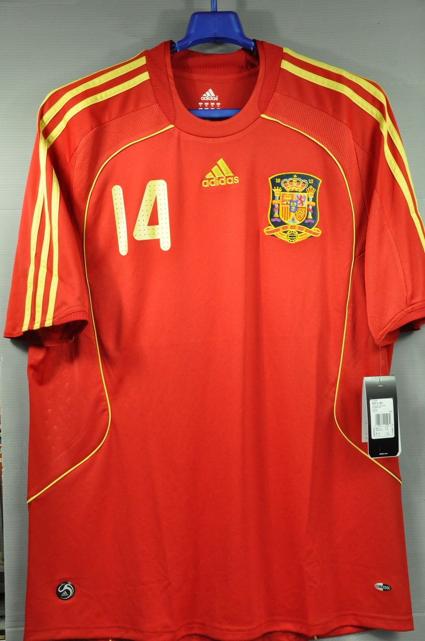 f3c987a50 Spain XABI ALONSO 14 2008 National Football Team Home Jersey Shirt World  Cup Europ Champion