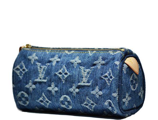 5cf8845cd3cd Louis Vuitton - Limited Edition Denim Monogram Speedy PM Cosmetic Bag - Blue