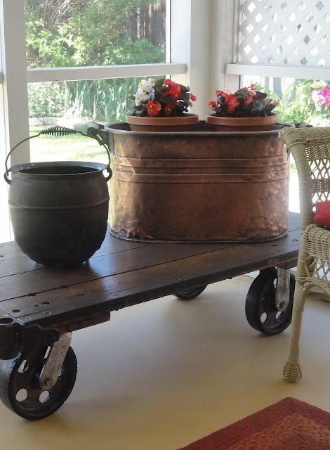 Salmagundi: INDUSTRIAL CART!! Found At A Yard Sale For $20. This Beats