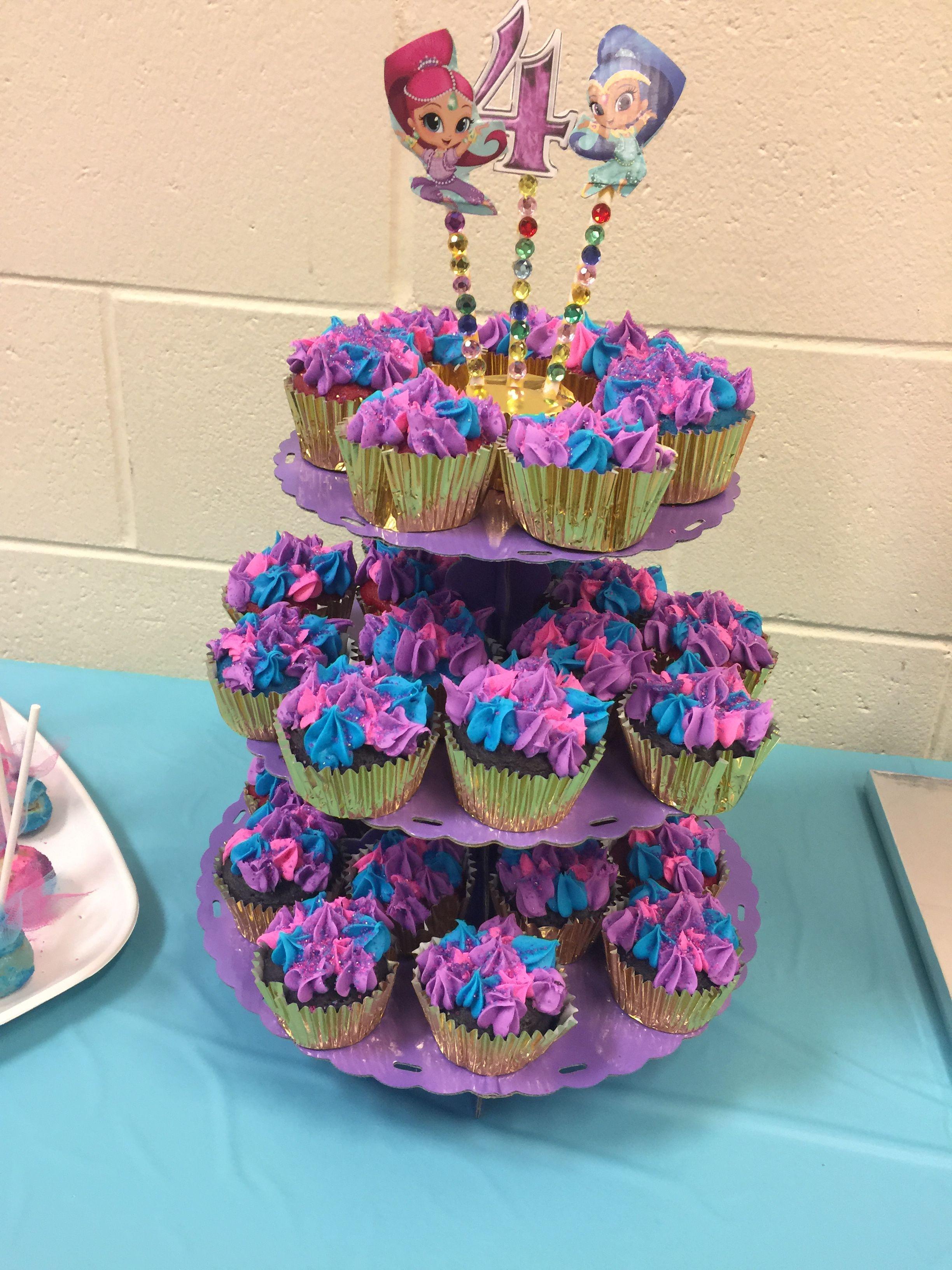 Shimmer And Shine Cupcakes Shimer And Shine Birthday