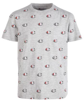 Champion Big Boys Printed T Shirt Oxford Heather | Kids