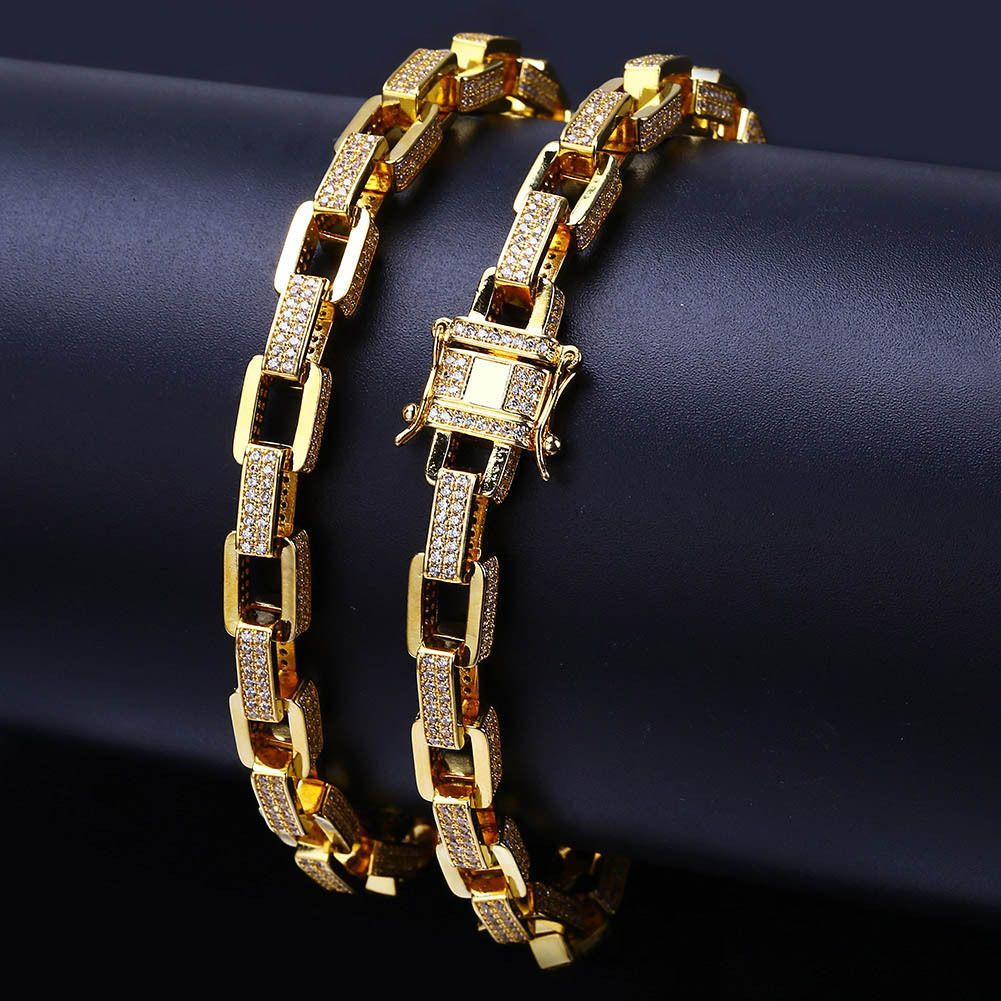 10mm 14k Gold Cz G Link Chain Hip Hop Jewelry King Ice >> 2019 的 Chain Bracelet Diamond Hip Hop Bracelets For Men Mens Gold
