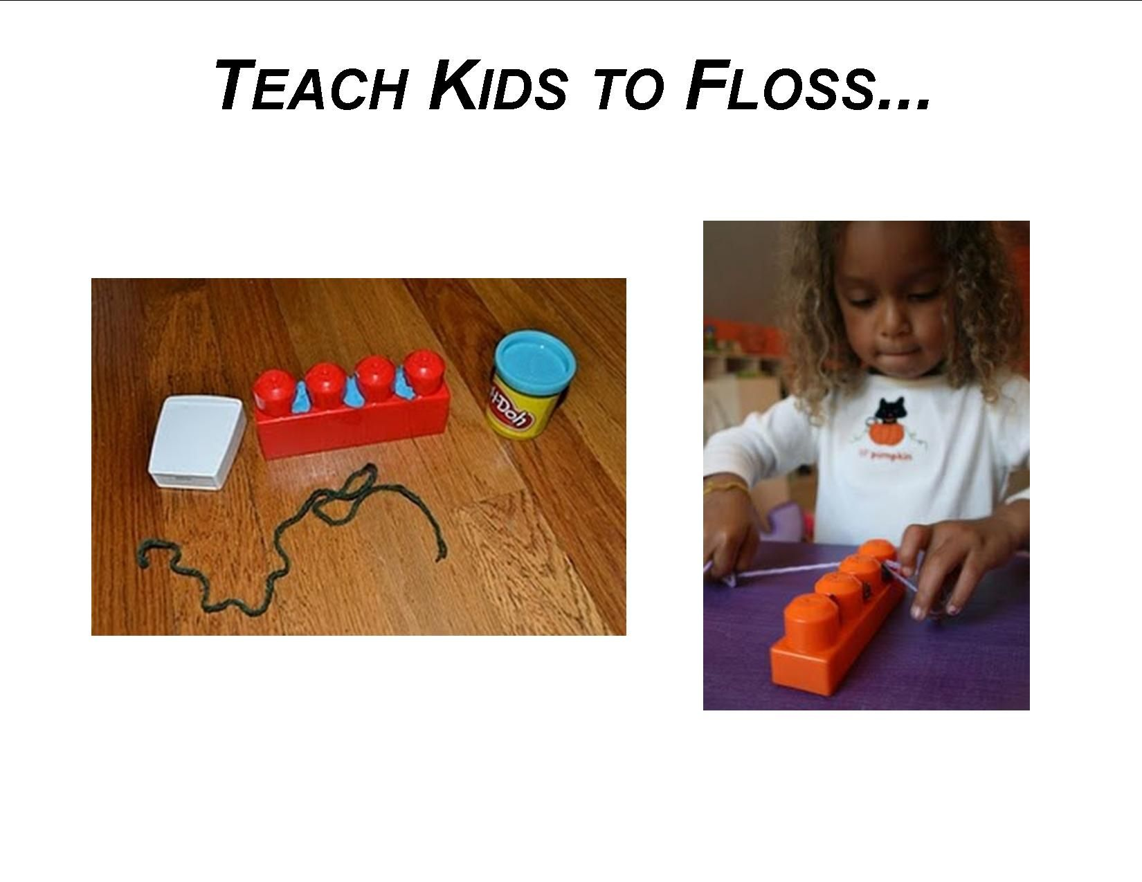 Teach Kids To Floss With Lego And Playdoh