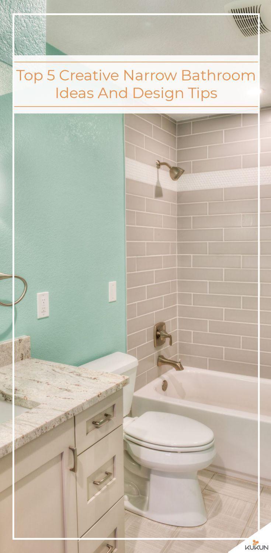 top 5 creative narrow bathroom ideas and design tips