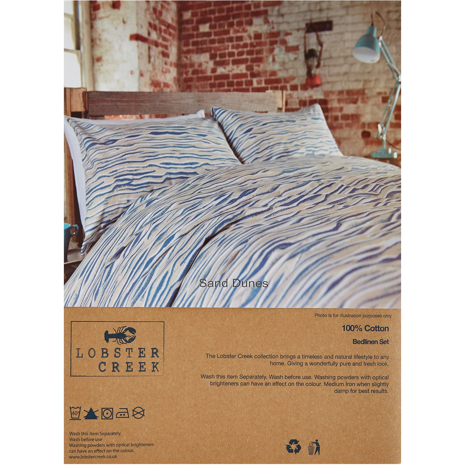 Lobster Creek Double Grey Blue Striped Duvet Set Tk Maxx