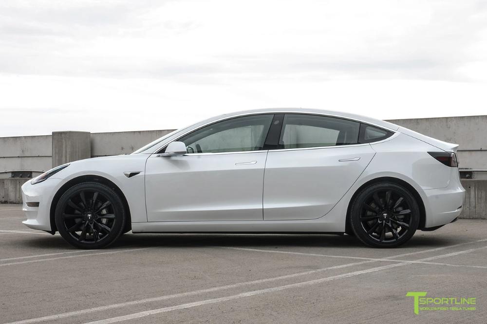 Model 3 With 19 Tst Model Car Model Tesla Turbine
