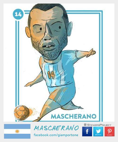 Mascherano #StickersProject V29 » #Football #Panini #Estampas #Soccer #Brasil2014 http://www.akyanyme.com/index.php/es/portafolio/fanart/brazil-2014/stickers-brazil-2014/297-sticker-brazil-2014-v29
