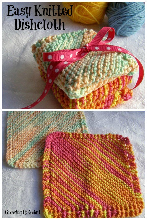 Knitting Dishcloths Easy : Want to learn knit or just need an easy knitting