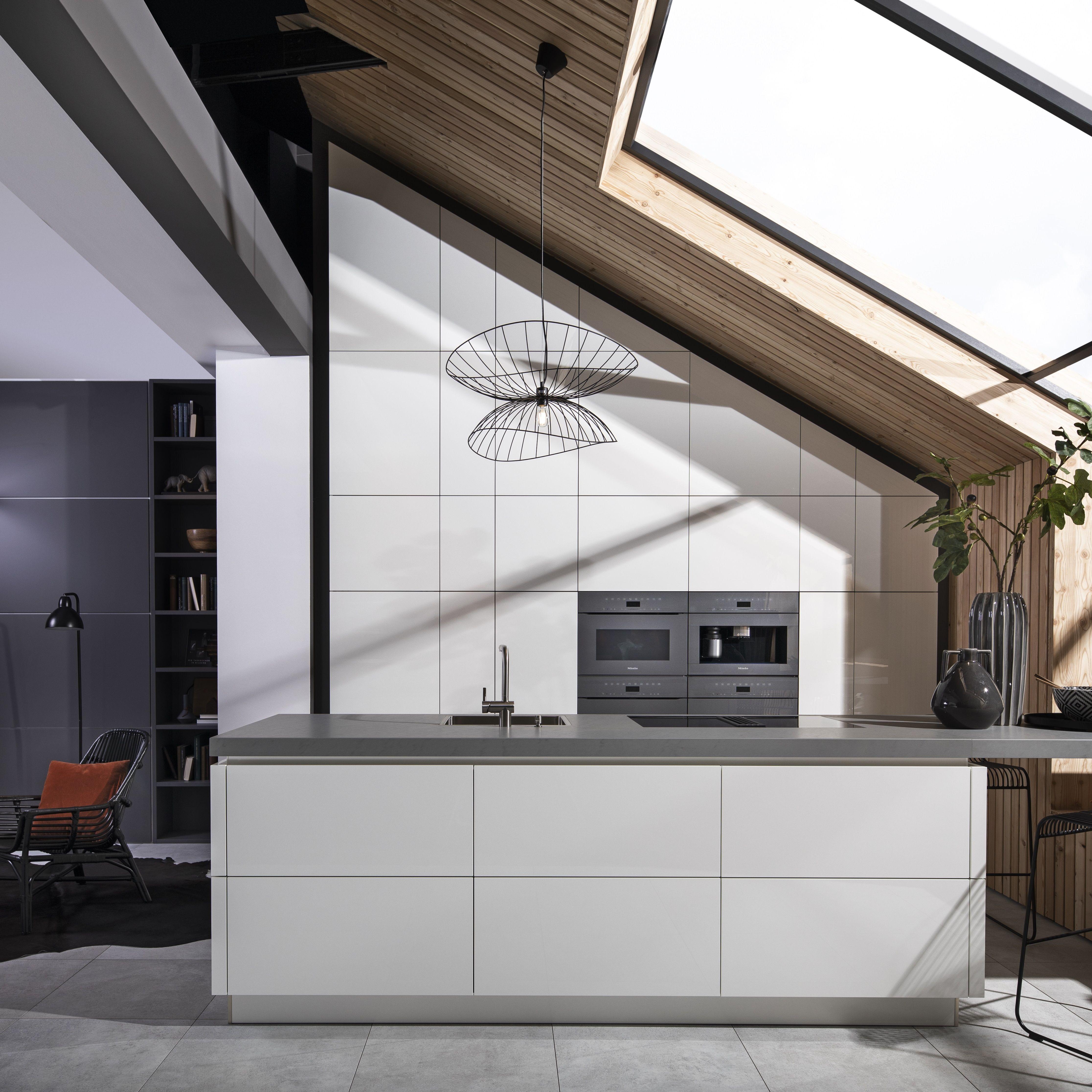 Küche OneLine. Modernes, puristisches Design  Küche dachschräge