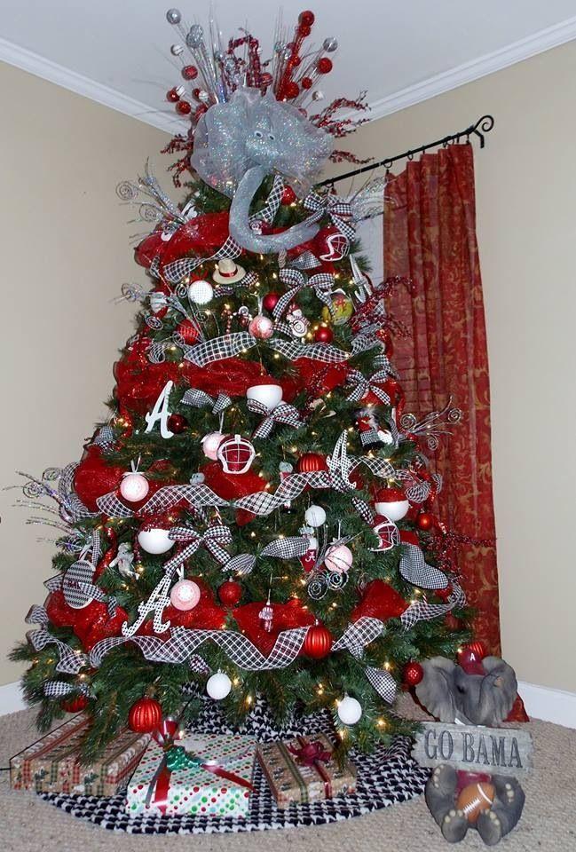 Roll Tide Alabama Christmas Christmas Tree Themes Christmas Tree Decorations Diy
