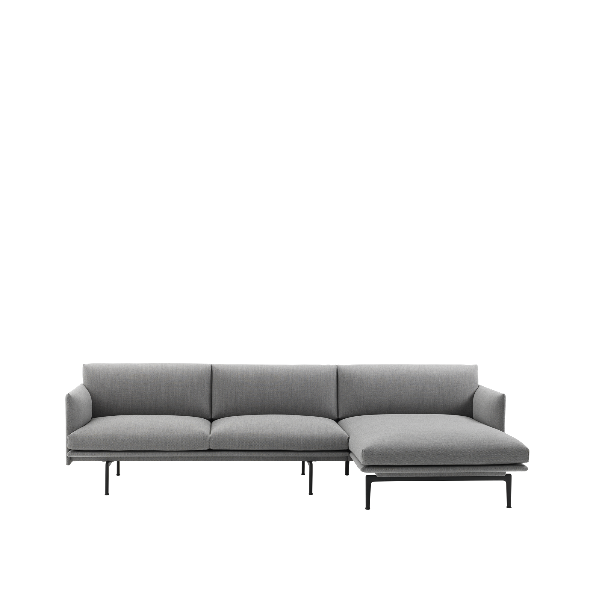 the outline sofa chaise longue has an elegantly refined expression rh pinterest com