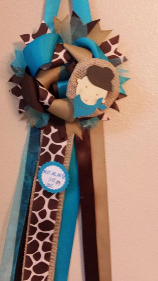 Baby Shower Mommy To Be Corsage Mum Door Hanging Or Decor Made