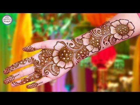 Trending arabic big flower henna mehndi designs  tattoo by jyoti sachdeva also pin komaljeet kaur on video pinterest rh