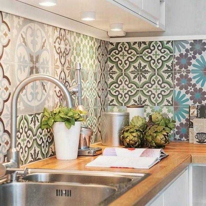 une jolie cuisine et comment recouvrir carrelage mural cuisine