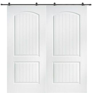 Verona Home Design Santa Fe Double Barn Door Prehung Interior Doors Doors Interior Double Doors Interior