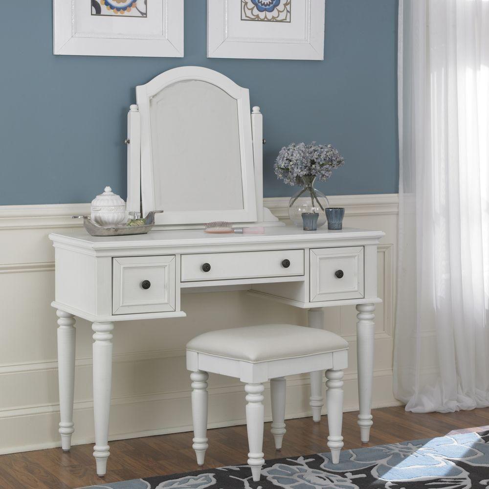 Homestyles Bermuda 3 Piece White Vanity Set 5543 72 White Vanity