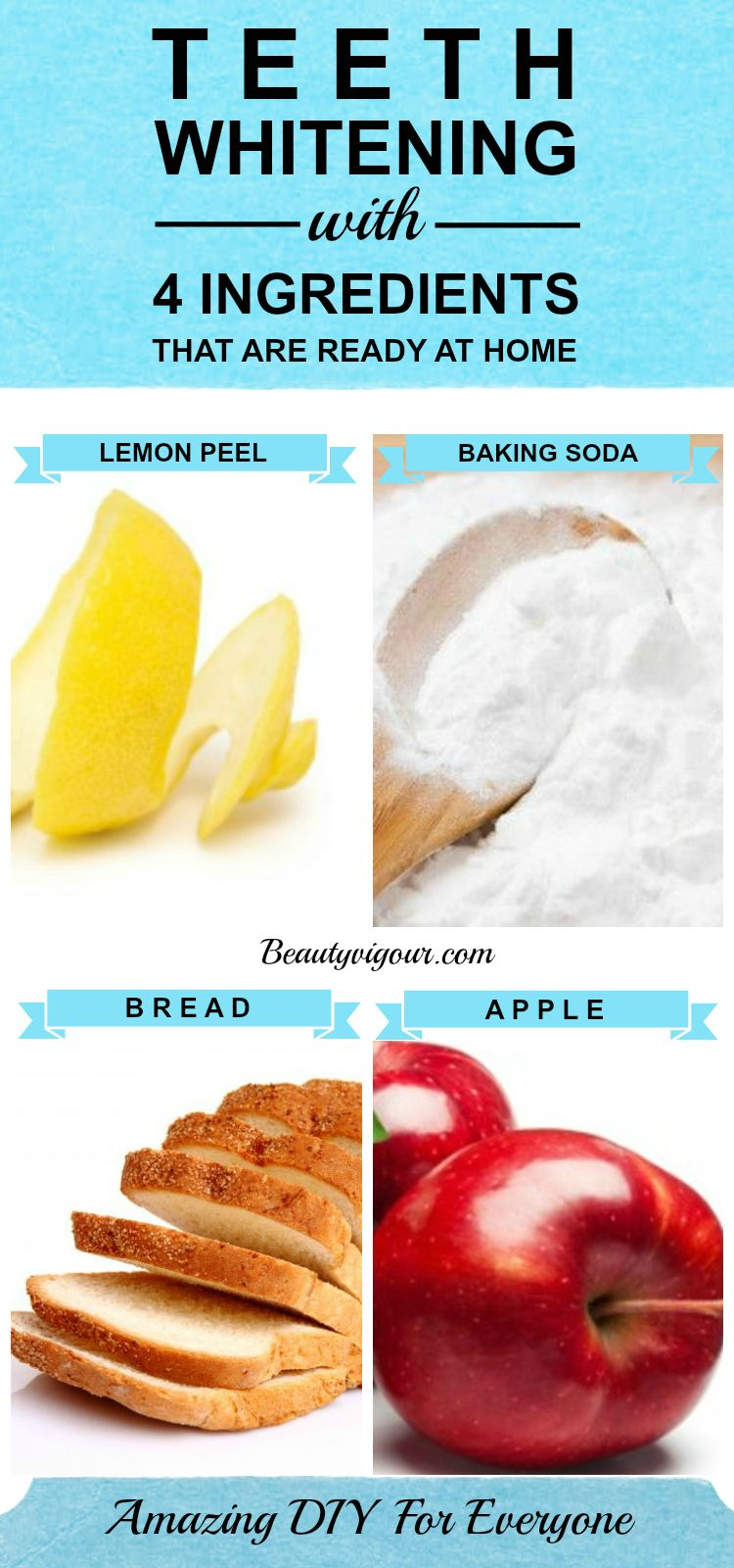 Teeth Whitening Ingredients Ready At Your Home  Beauty Tips