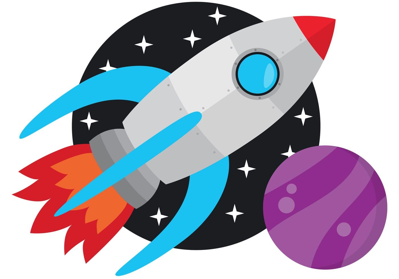 Space Rocket Vector | Clip art, Free vector ornaments, Free vector clipart