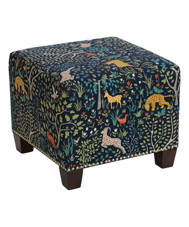 Sensational Loving This Folkland Admiral Square Ottoman On Zulily Evergreenethics Interior Chair Design Evergreenethicsorg