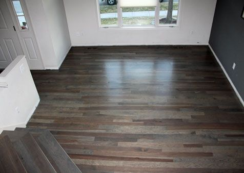 Hickory Flooring With A Custom Stain Hickory Flooring Hardwood Floors Flooring