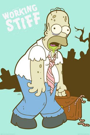 THE SIMPSONS - working stiff Poster - Europosters
