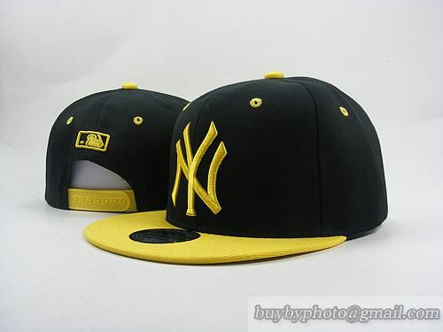 b593fc940 MLB Baseball NEW YORK Yankees NY Snapback Caps Hats Hat Cap Black Yellow  $28.00 $8.90