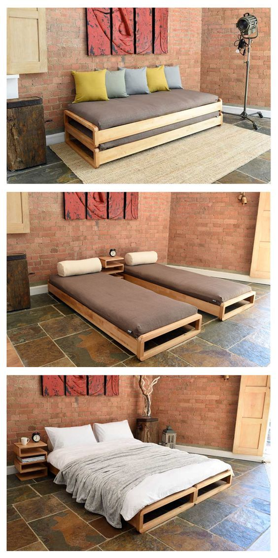Stacking single bed (can be made into kingsize) - The Futon Company ...