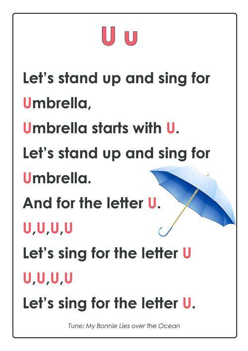 Abc Songs Letter U Alphabet Worksheet Pinterest Abc Songs