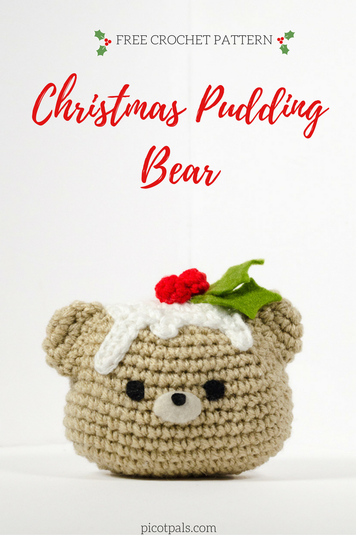 FREE crochet pattern | Christmas Pudding Bear | Red Heart Patterns ...