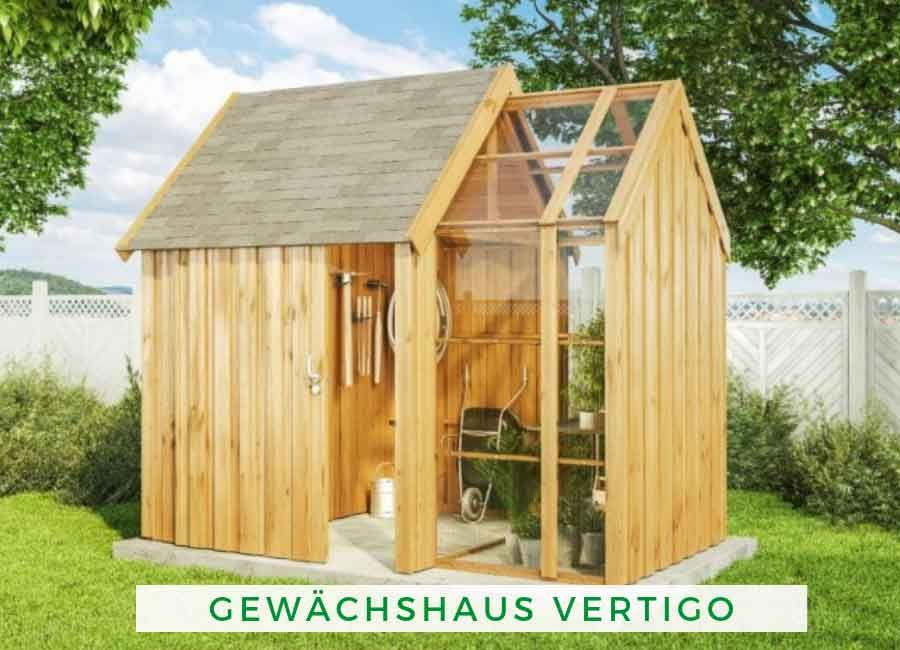 Gewächshaus Vertigo 28mm Gewächshaus holz, Gewächshaus