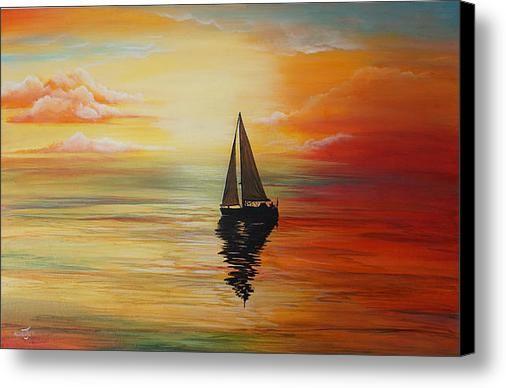 Calm Sailing Canvas Print / Canvas Art By Merrin Jeff