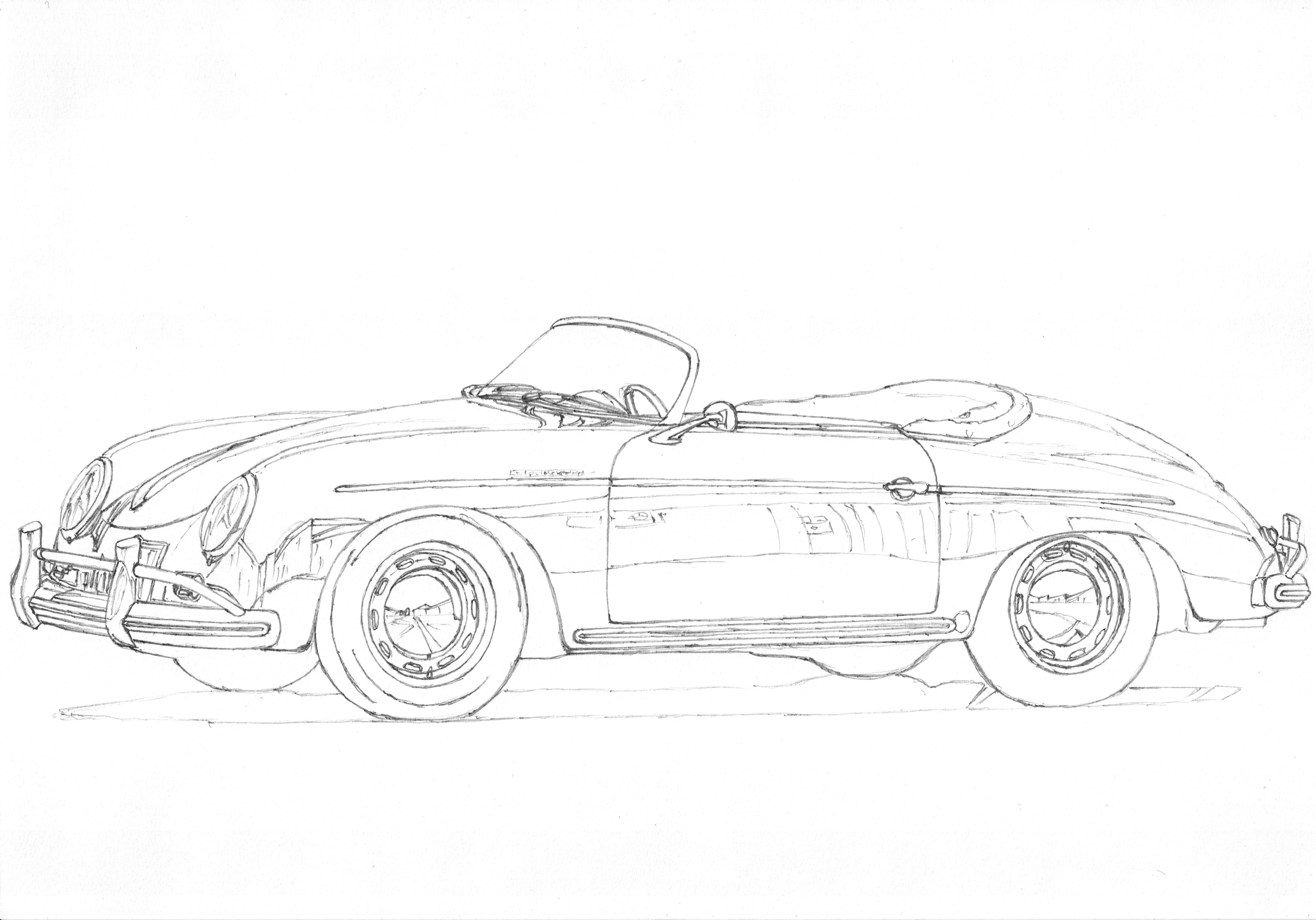 Porsche 356A Speedster 1 3 Now a german classic Beautiful boxer
