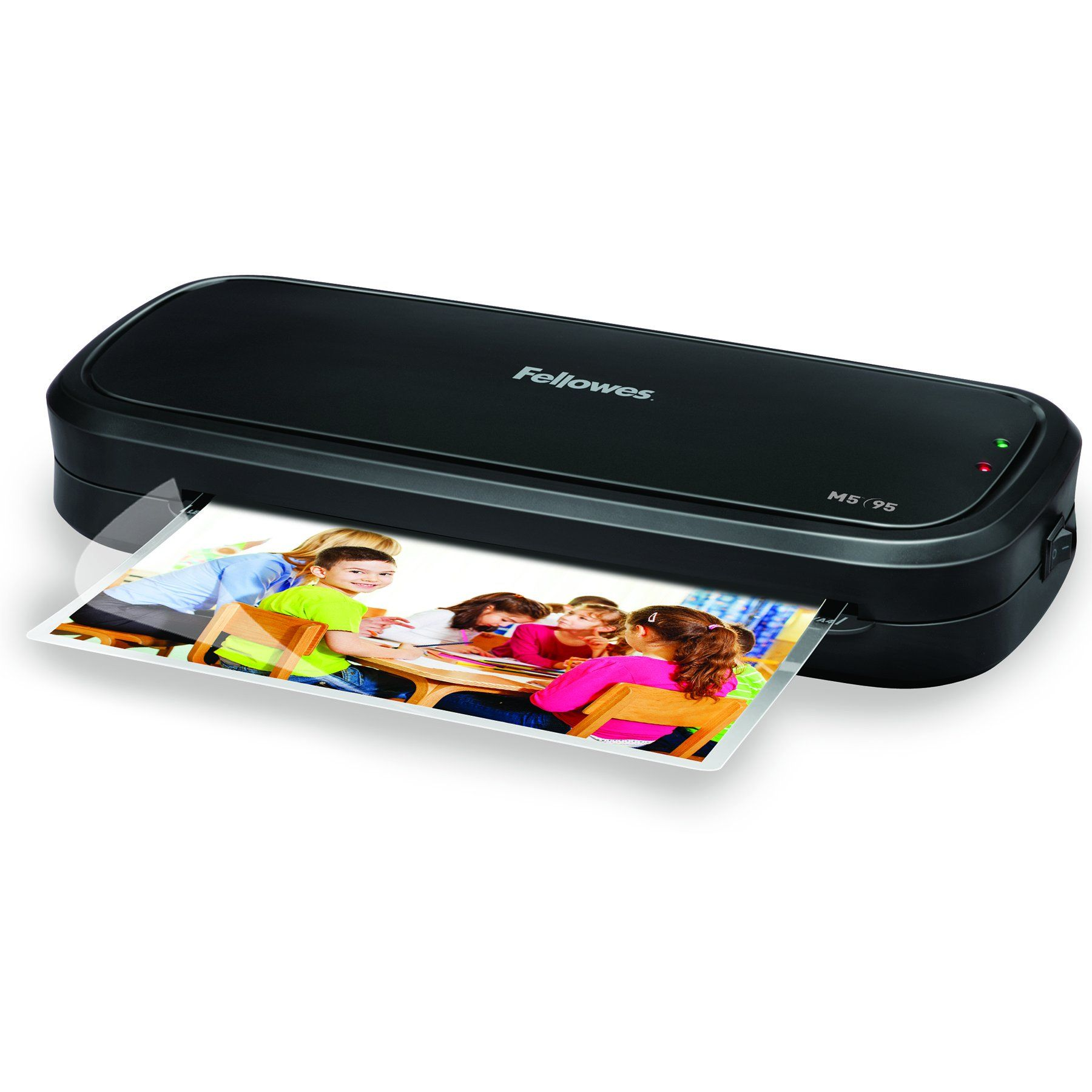 Fellowes Laminator M5 95 Quick Warm Up Laminating Machine With Laminating Pouches Kit M5 95 Fellowes Laminators Starter Kit