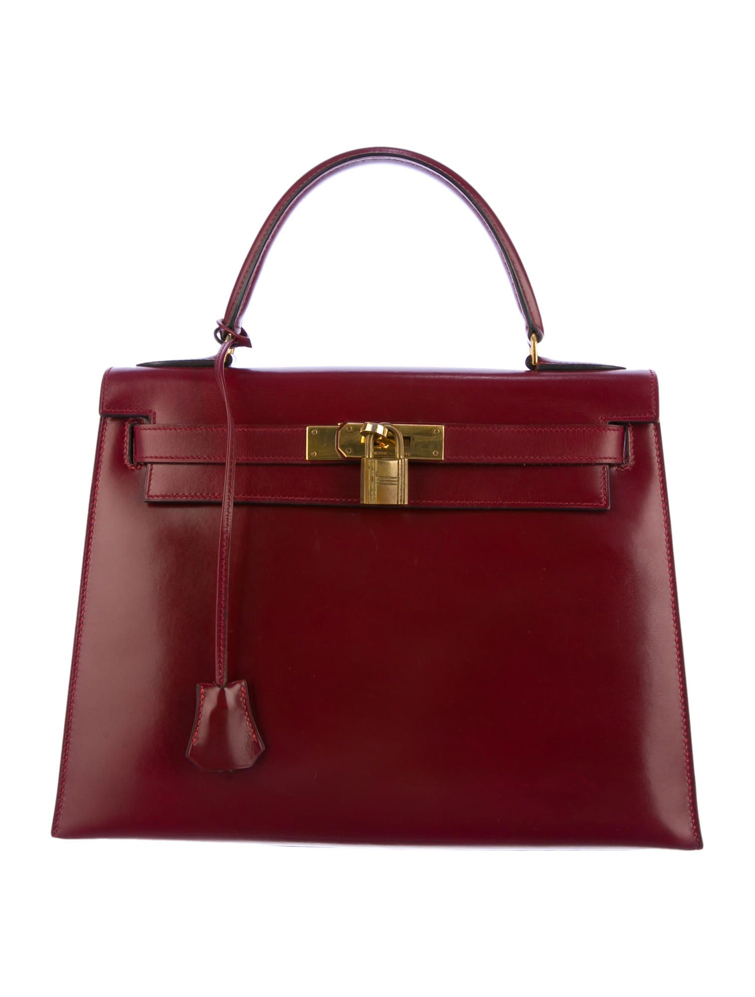 hot rouge h box leather hermès kelly 28 with gold tone hardware rolled top  handle a5483 26d6e4ac2f167