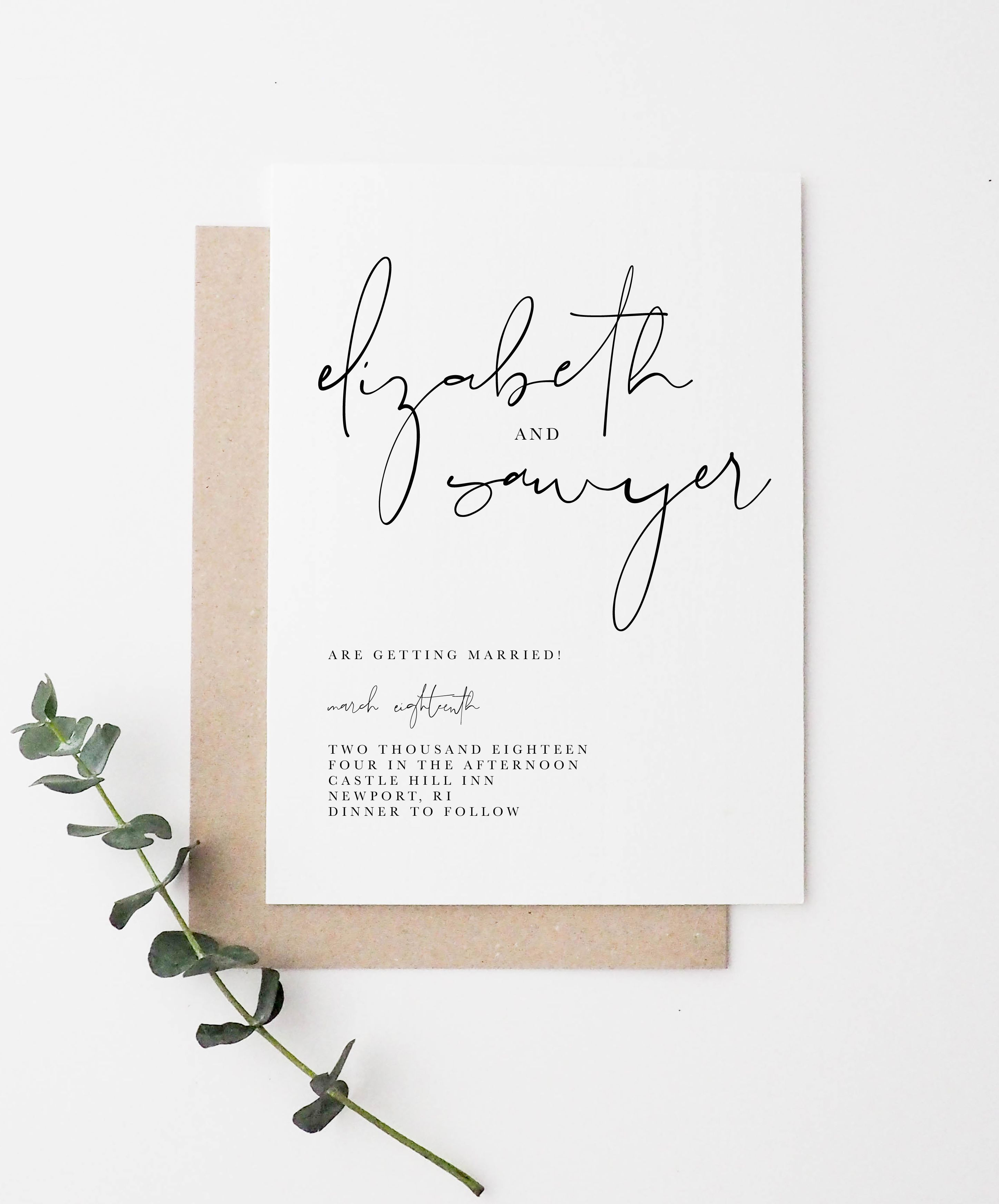 Gallery Minimalist Wedding Invitations: Minimal Wedding Invitation