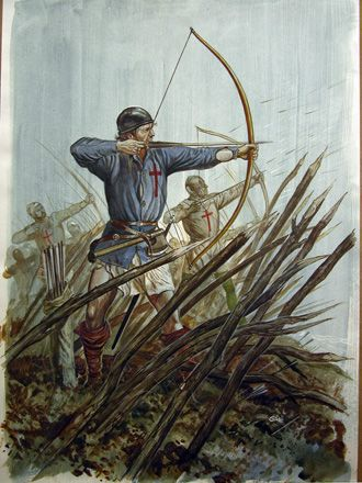 in the hundreds year war who had the most archers