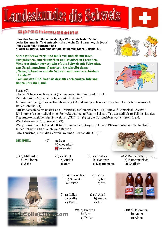 Landeskunde Schweiz | DaZ | Pinterest | Schweiz