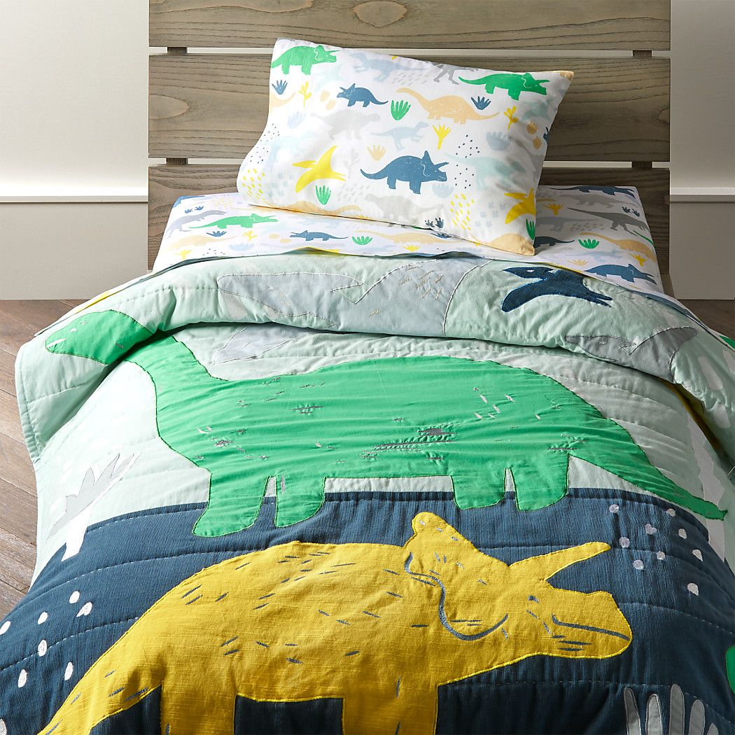 Dinosaur Baby Quilt + Reviews | Crate and Barrel in 2020 ...