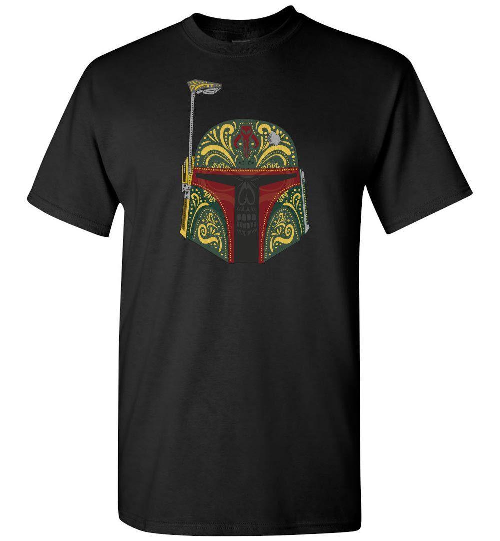 Star Wars Boba Fett Sugar Skull Day of the Dead T-Shirt Men Kids Tee New XS - 5XL