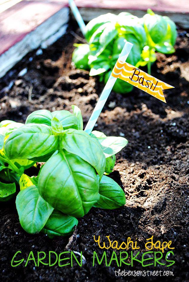 Washi Tape Garden Markers At Tnsonstreet