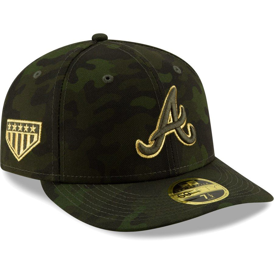 63d145a54b7da Best 12 Atlanta Braves New Era 2019 MLB Armed Forces Day On-Field Low  Profile 59FIFTY Fitted Hat - Camo