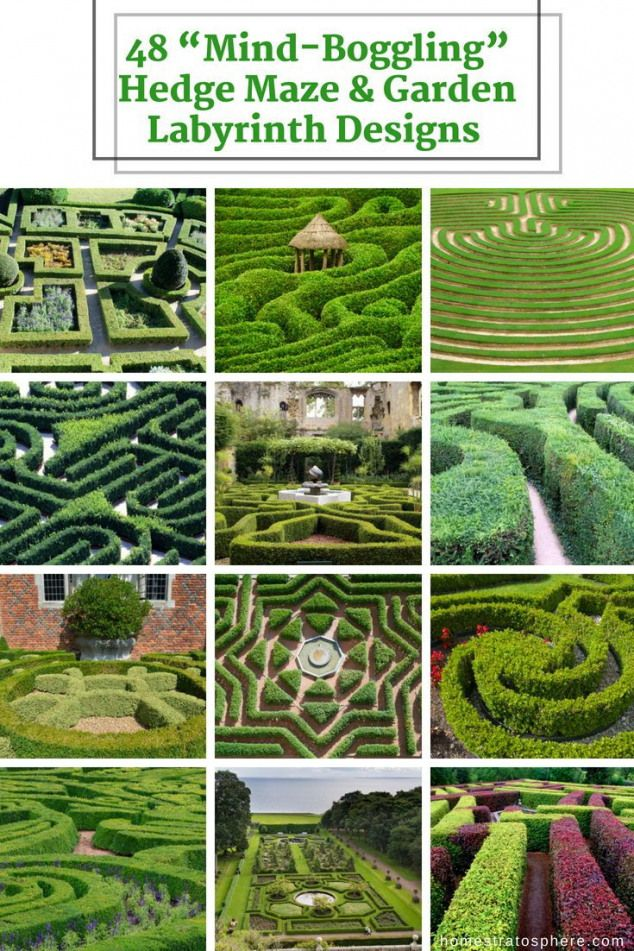 48 MindBoggling Hedge Maze  Garden Labyrinth Designs Pictures